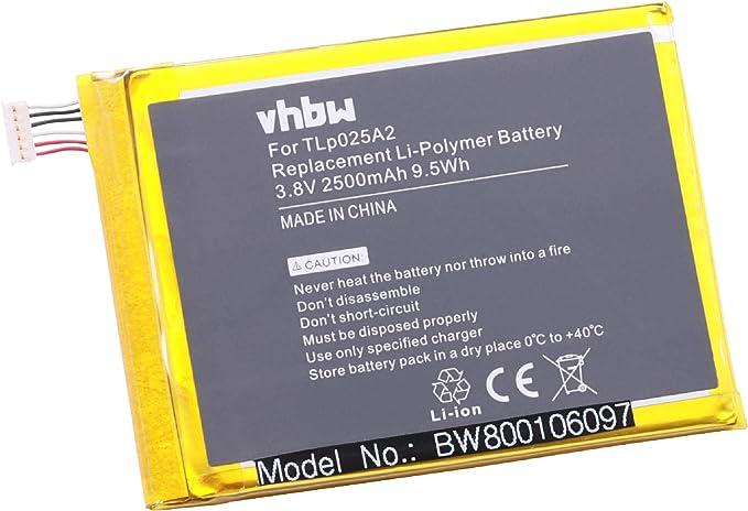 vhbw batería 2500mAh (3.8V) para teléfono móvil Smartphone Alcatel One Touch Pop C9, OT-7047, OT-7047D, OT-7047A y TLp025A2.: Amazon.es: Electrónica