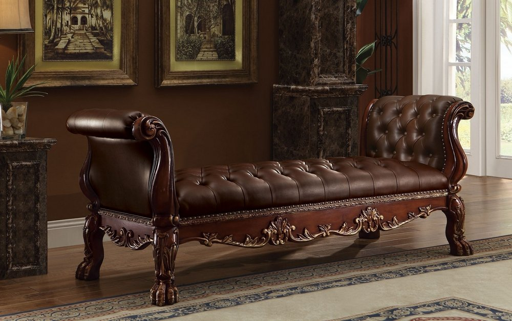 ACME Dresden Cherry Oak Bench by Acme Furniture