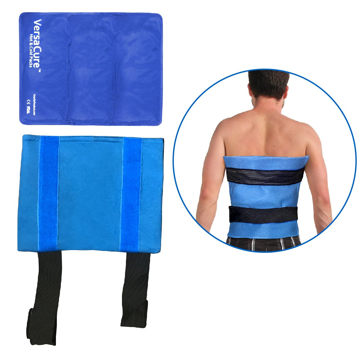 EasyGoProducts Back HOT - Cold Pack for Injuries – ICE – HOT Pack Good for Home USE, Medical USE and Therapy. Designed SPECIFICALLY for Back BUT CAN Also BE Used ON Other Parts of The Body