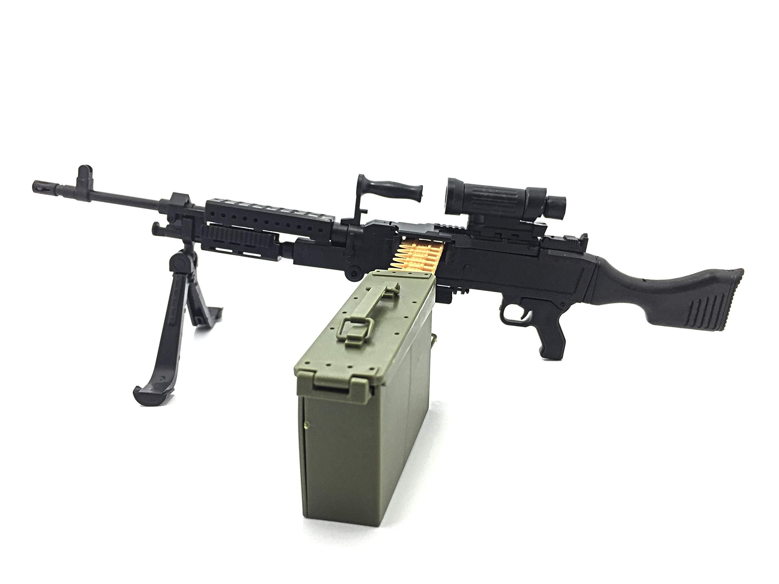 "1//6 1:6 Scale 12/"" Action Figure Gun Model Machine Gun M240 Dragon Hot Toys BBI"