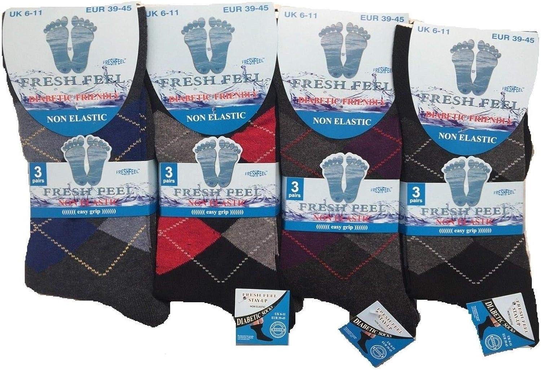 3 6,womens Non Elastic Socks Loose Top Comfort Easy Grip Diabetic Cotton Socks