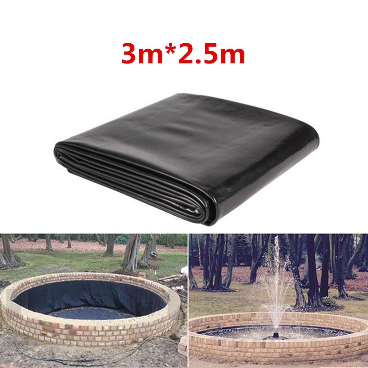 Pond Liners KINGSO Pond Skins Waterfall and Water Features Black 118inch 98inch
