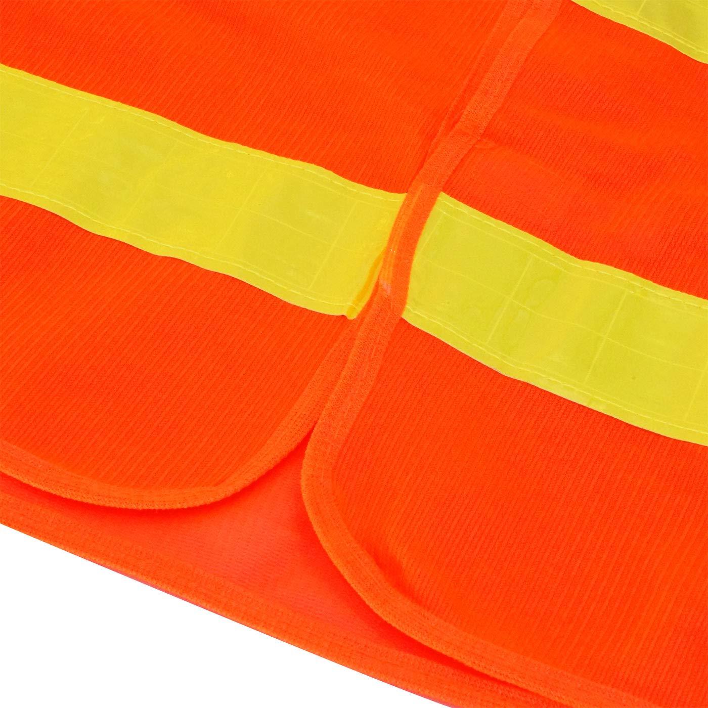 5 pi/èces Veste R/éfl/échissante Cyclisme Jogging Moto Auto Color/és Gilet de Securit/é en Maille Haute Visibilite L/éger Velcro Col V AIEOE