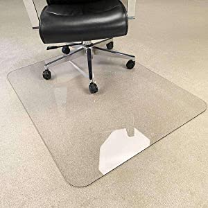 Chihen Office Chair Mat for Carpets, Transparent Clear Hard Floor Protector with Non-Studded Bottom Free Office (Color : 1.5mm, Size : 80x100cm(31x39inch))