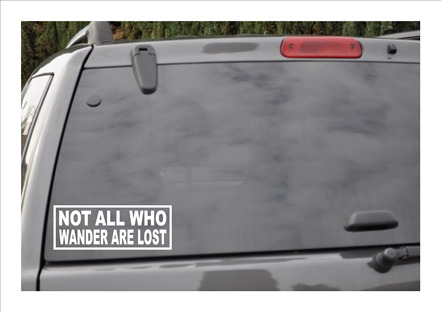Amazoncom NOT ALL WHO WANDER ARE LOST Window Decal Automotive - Jeep hood decalsall that wander are not lost compass jeep hood decal sticker