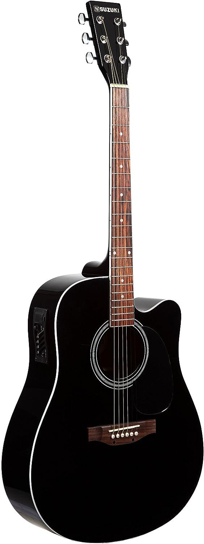 Suzuki sdg2-cebk guitarra Electro acústica: Amazon.es ...