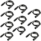 mountain ark 10 Pack 3-Pin Signal XLR Connection DMX Stage Light Cable Wire 6.5ft/2m for Moving Head Light Par Light
