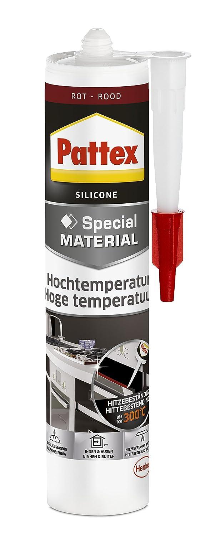 Pattex PFOFR - Silicona para horno y chimeneas, color rojo