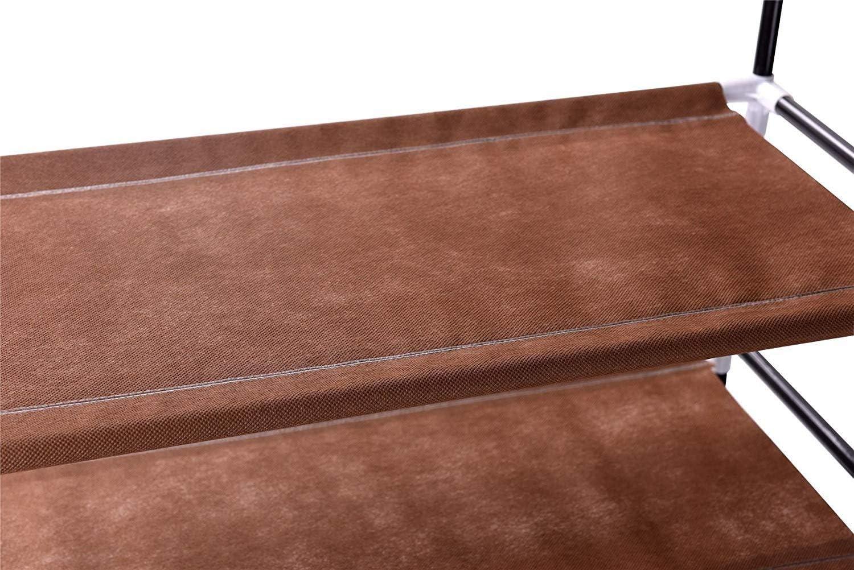 Brown Vinsani/® 6 Tier Shoe Rack Standing Shoe Furniture Storage Organizer Stand Adjustable Shelf