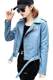 f727865127072 Zilcremo La Femme Automne - Hiver Occasionnel du Plutonium Postal Outcoat  Punk Blazer, Veste en Cuir…