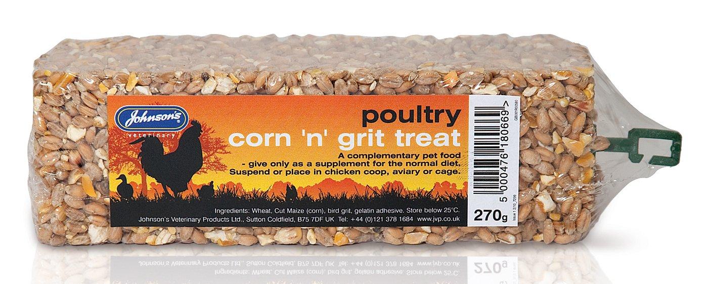 Johnsons Poultry mais 'N' Grit Treat 270 g (confezione da 10) 2700 g