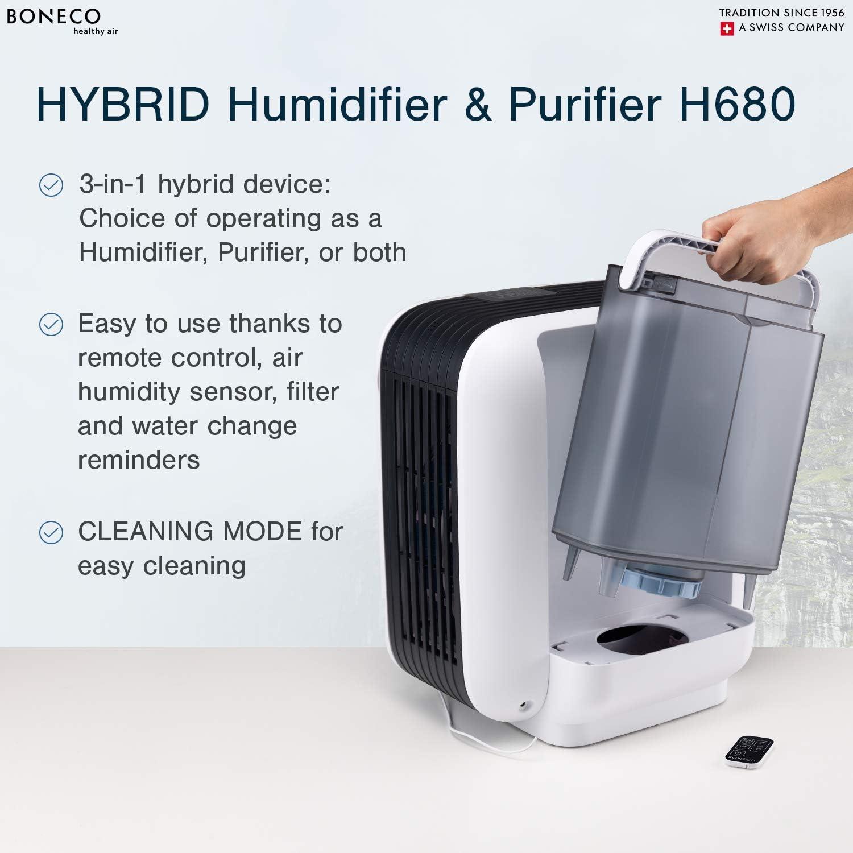 Boneco H680 - Humidificador híbrido y purificador de Aire HEPA ...
