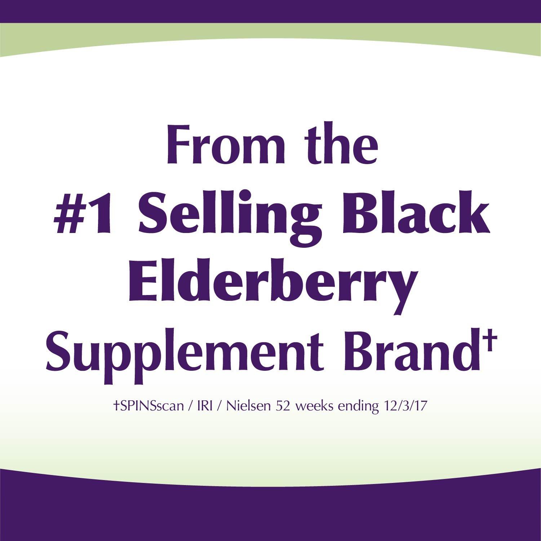Sambucus Zinc lozenges with Elderberry and Vitamin c, Honey Lemon Flavor, Gluten Free, Kosher Certified, 24 Count by Nature's Way (Image #4)