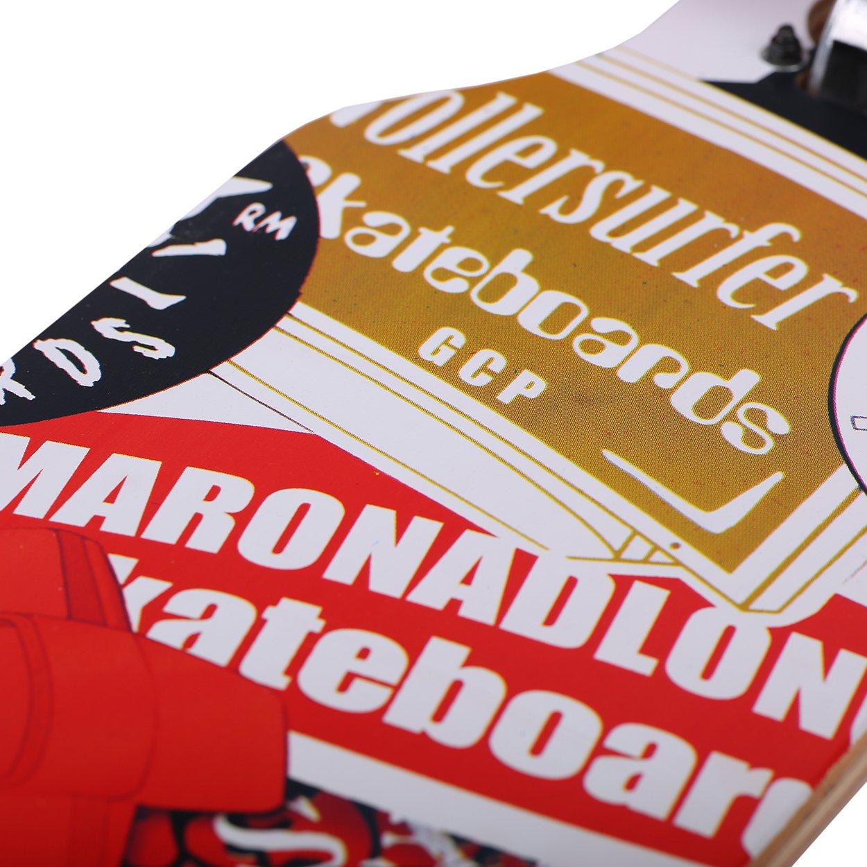 Longboard Skateboard MARONAD drop through Race Cruiser ABEC-11 Skateboard 104x24 cm Streetsurfer patinar FUN Modell Cruiser Aruba