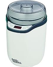 Davis & Waddell Electric Yoghurt Maker/Fermenter 2 in 1, White/Grey