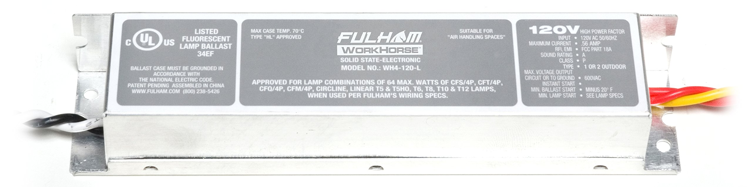 Fulham WorkHorse Adaptable Ballast, WH4-120-L