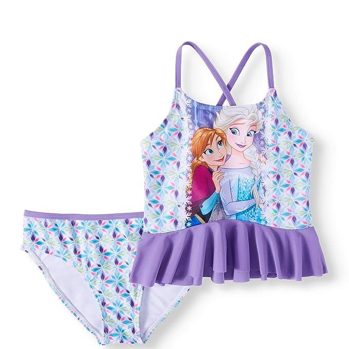 0498ed1b92b Amazon.com: Fashion Girls Disney Frozen Elsa & Anna 2 Piece Swimsuit ...