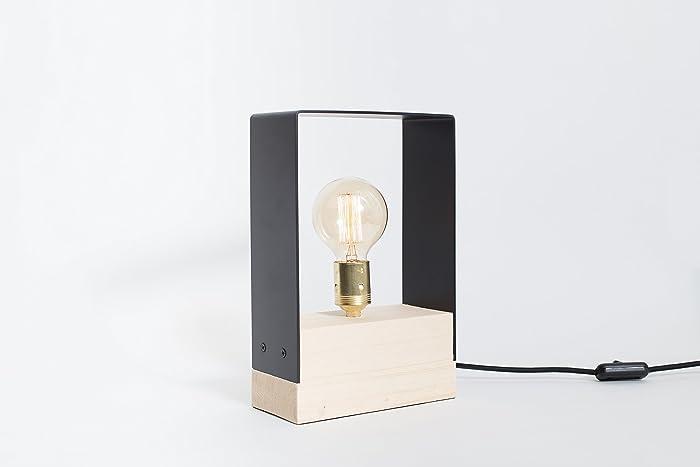 Lampada in legno ferro lampada edison lampada a mano lampada da