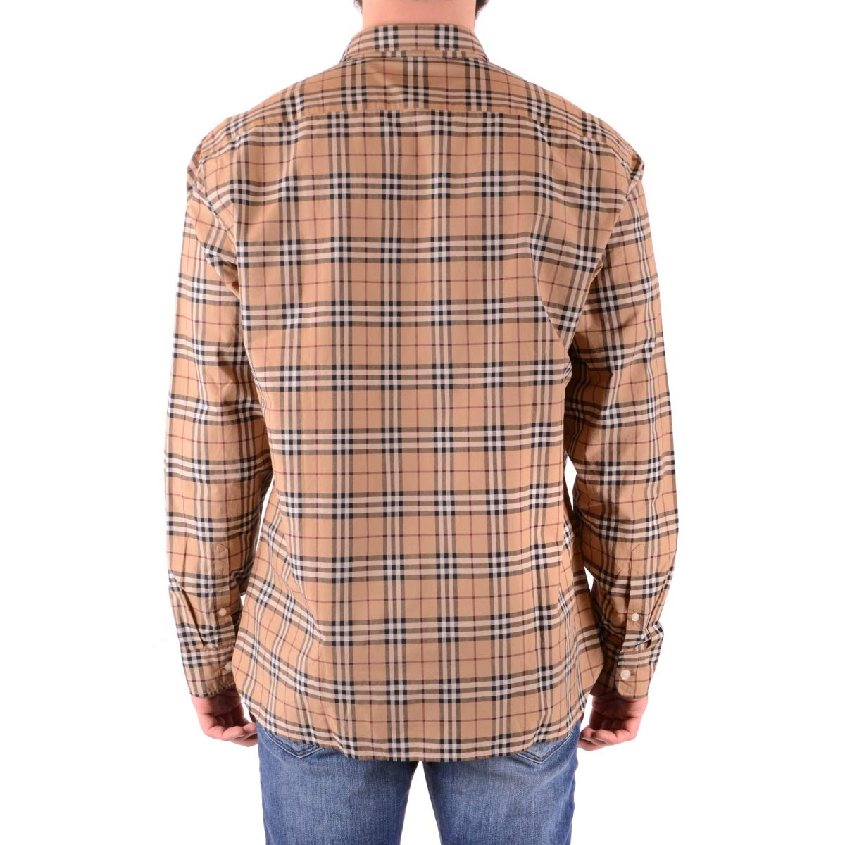 4fea308efb933 Amazon.com: BURBERRY Men's Alexander Camel Check Shirt XXL: Clothing
