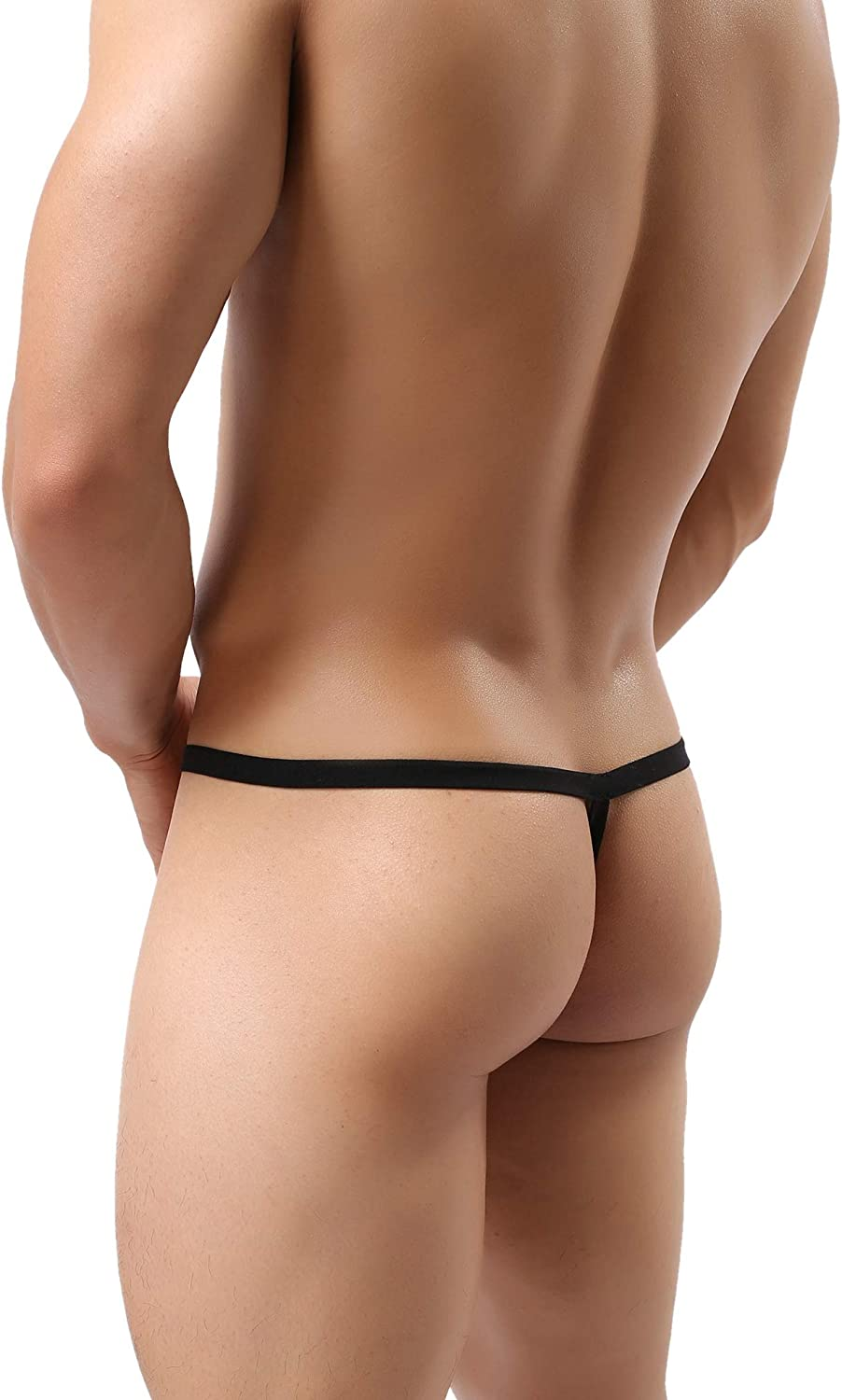 MuscleMate Hot Mens See-Through Thong Underwear Mens Thong G-String Undie.