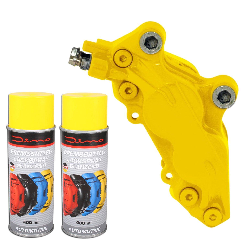 DinoRaid Bremssattellack Spray 1K Gelb 1 Komponenten Lack Lackspray 2X 400ml