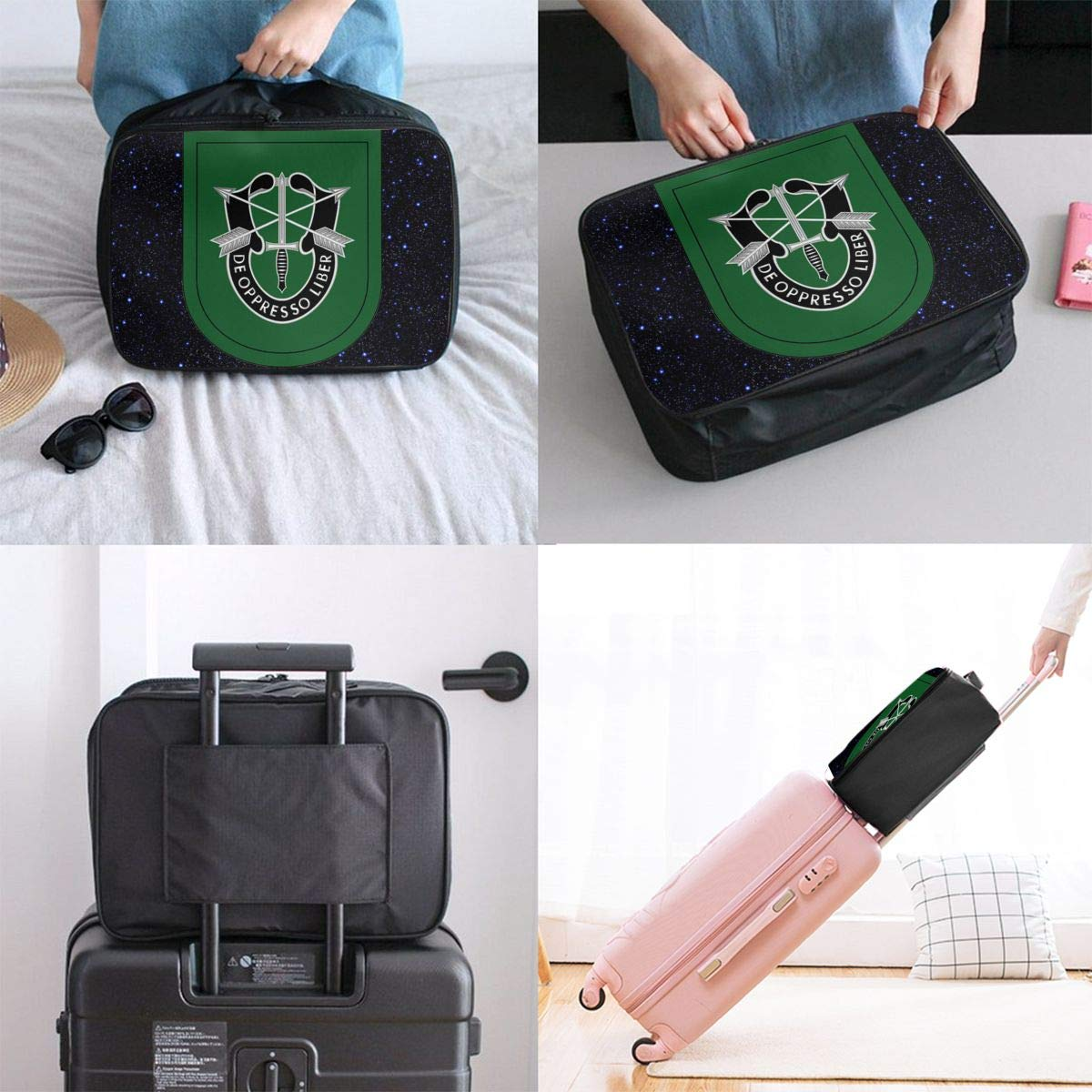 Unisex Travel Duffel Bag Waterproof Fashion Lightweight Large Capacity Portable Luggage Bag US Army 10th Special Forces Group