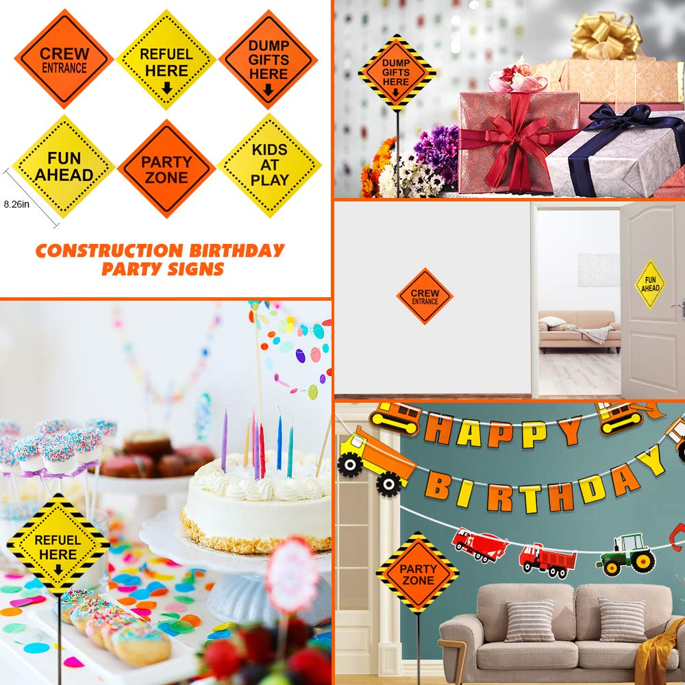 Dump Truck Party Decorations Set for Kids Birthday Party Supplies Baby Shower Decorations 52 Pack Mocoosy Construction Birthday Party Supplies