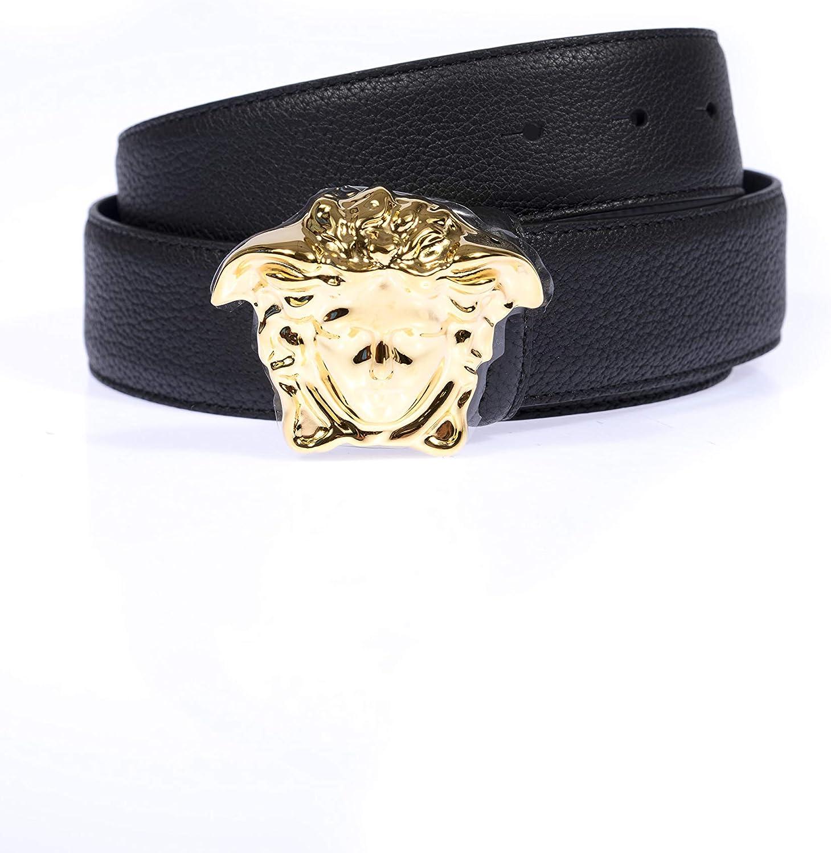 Versace DCU4140DGOV2 - Cinturón para hombre, color negro