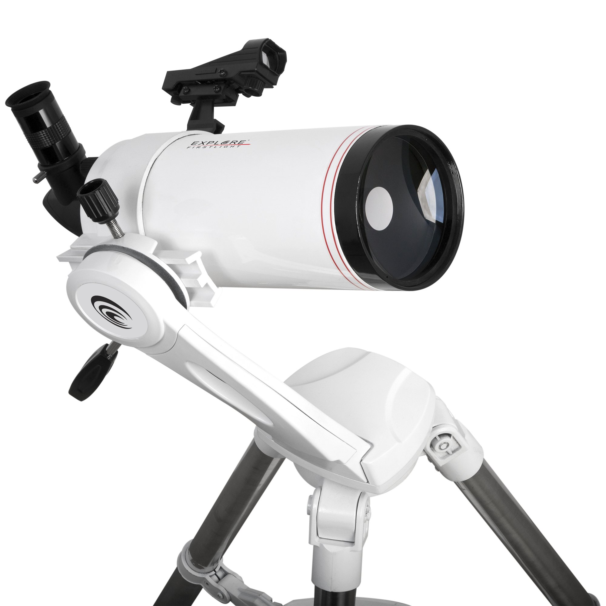 Explore Scientific FL-MC1001400TN First Light Tube sutov-Cassegrain Telescope with TWI Nano, 100mm, White by Explore Scientific
