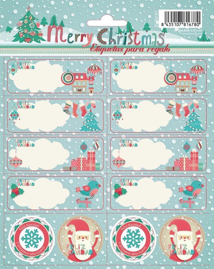 Erik - Blister con 2 Hojas de Etiquetas Navidad (ELE0177)