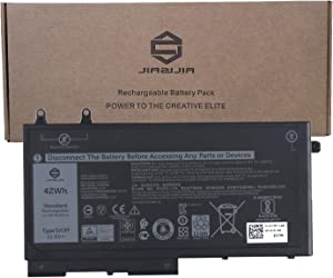 JIAZIJIA 1V1XF Laptop Battery Replacement for Dell Latitude 5400 5410 5500 5510 Precision 3540 3550 Series Notebook 07VTMN 7VTMN Black 11.4V 42Wh 3500mAh