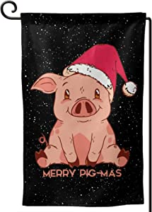 Shirt Luv Happy Holidays Pigmas House Decorative Garden Flags Yard Outdoor Decor 12.5X18 in