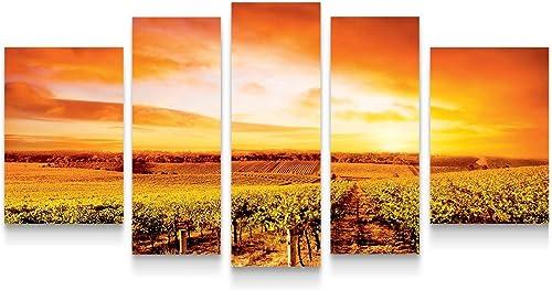 Startonight Canvas Wall Art Vineyard at Sunset