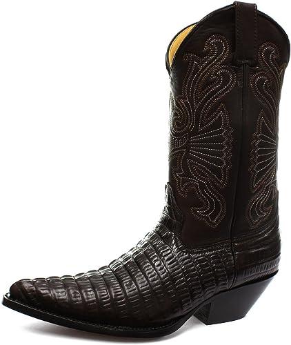 Cowboy Homme Grinders Carolina BottesMarron Western DeEIbWH29Y