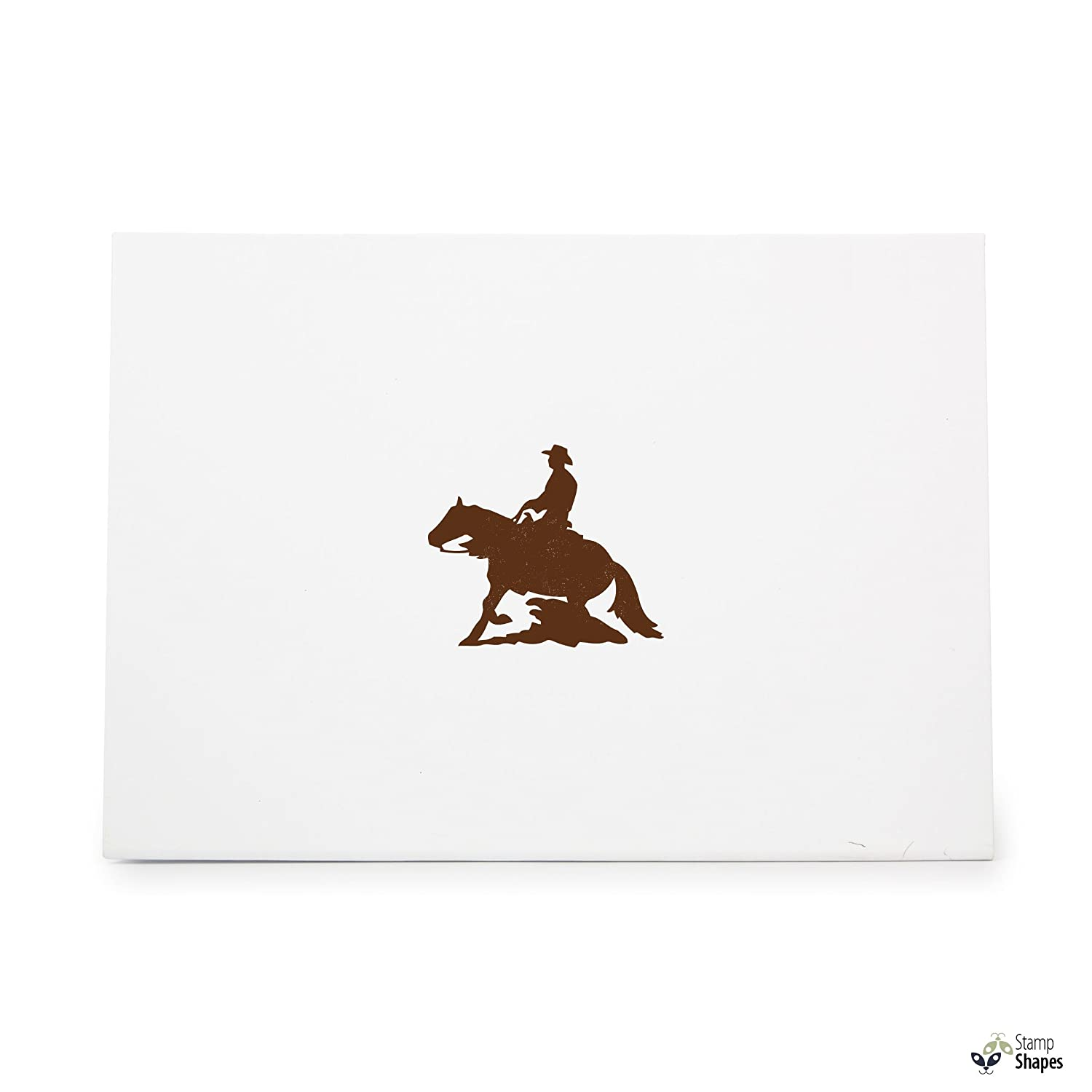 Crafts Ink Stamping Crafts Rubber Stamp Shape great for Scrapbooking Item 1321974 Card Making Reining Horse