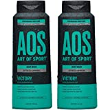 Art of Sport Activated Charcoal Body Wash for Men (2-Pack) - Victory Scent - Cool Eucalyptus Fragrance - Natural Botanicals T