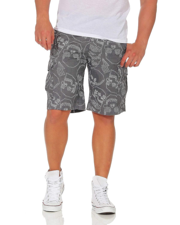 TALLA L (52). Pantalones de algodón para Hombres Pantalones Cortos de Las Bermudas Pantalones de Verano Ocio Cráneo Suelta Ajuste