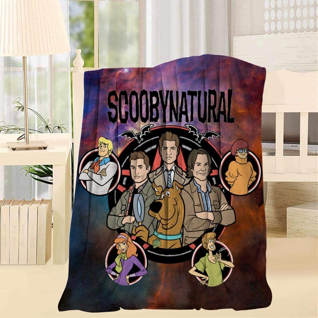 Sc-oobynatural-Cool Super Soft Blanket Fleece Throw Fuzzy Lightweight Cozy Plush Bedding Couch Home