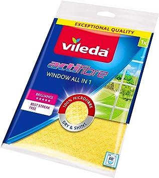 VILEDA ACTIFIBRE Window /& Glass CLOTHES NEW MICOROFIBRE TECH UK x2