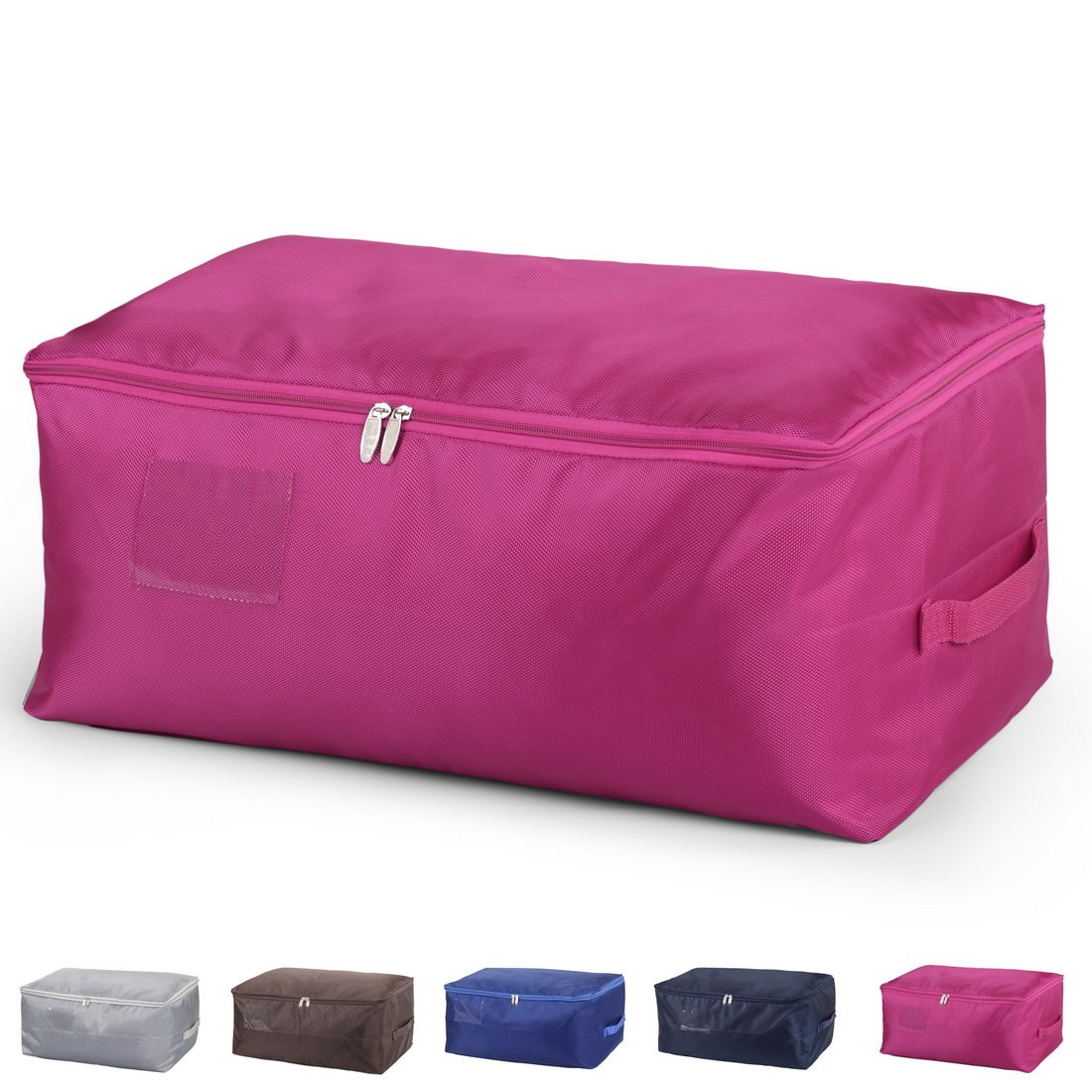 DOKEHOM DKA1014RDXXL2 XX-Large Under Bed Storage Bag (5 Colors, L and XXL), Thick Ultra Size Fabric Clothes Bag, Moisture proof (Red, XXL)
