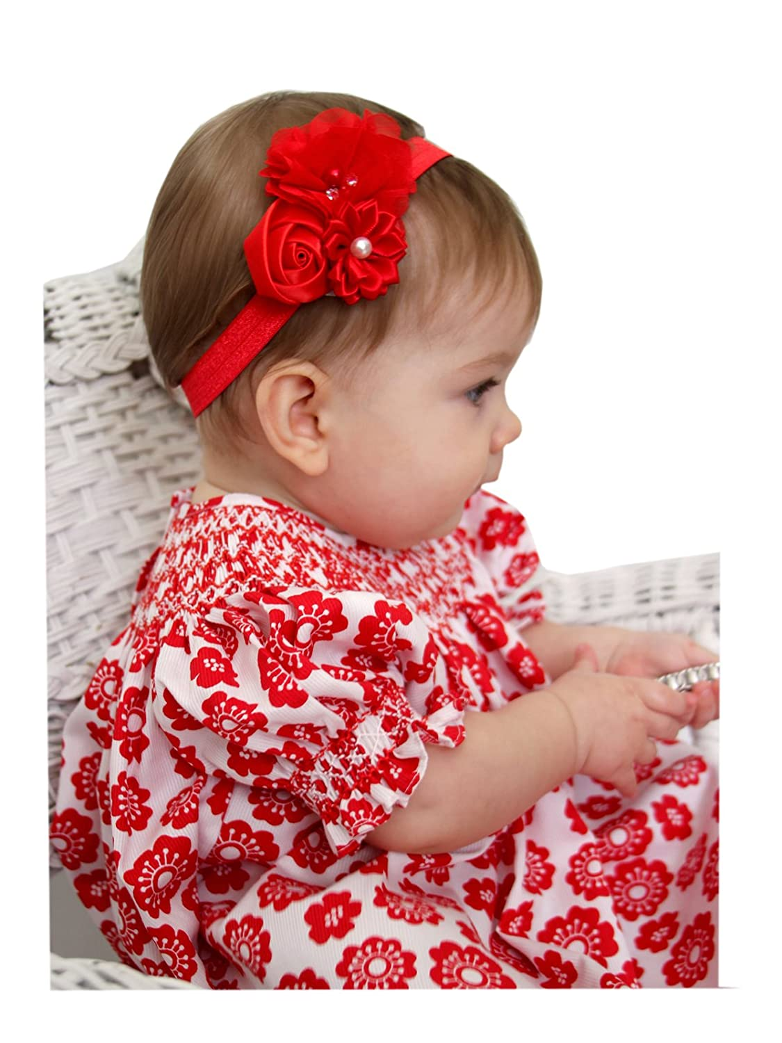 Amazon.com  Carouselwear Baby Girls Red Hairband 6aa2215ec9d