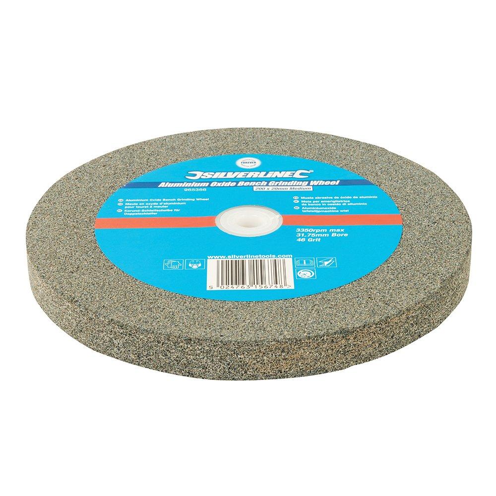 Silverline  965366 Aluminium Oxide Bench Grinding Wheel 200 x 20mm Medium