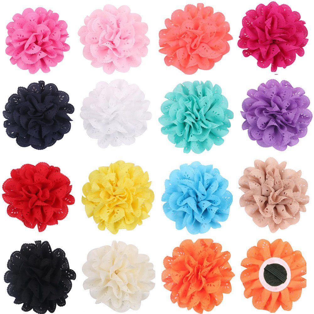 PET SHOW 4'' Dog Collar Charms Flower Accessories For Cat Puppy Collars Bowtie Grooming Pack of 15