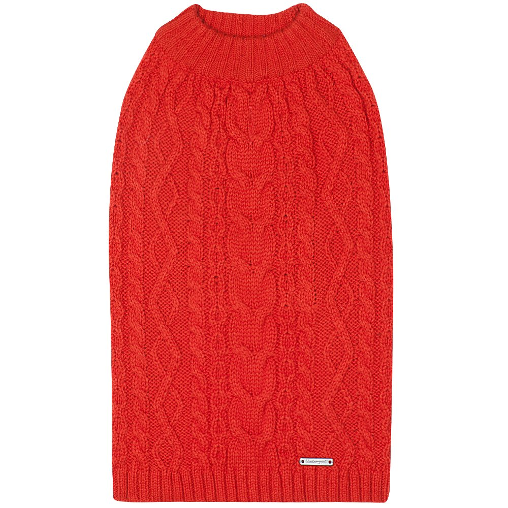 Blueberry Pet 16 Colors Classic Wool Blend Cable Knit Pullover Dog Sweater in Tomato, Back Length 16'', Pack of 1 Clothes for Dogs by Blueberry Pet (Image #4)