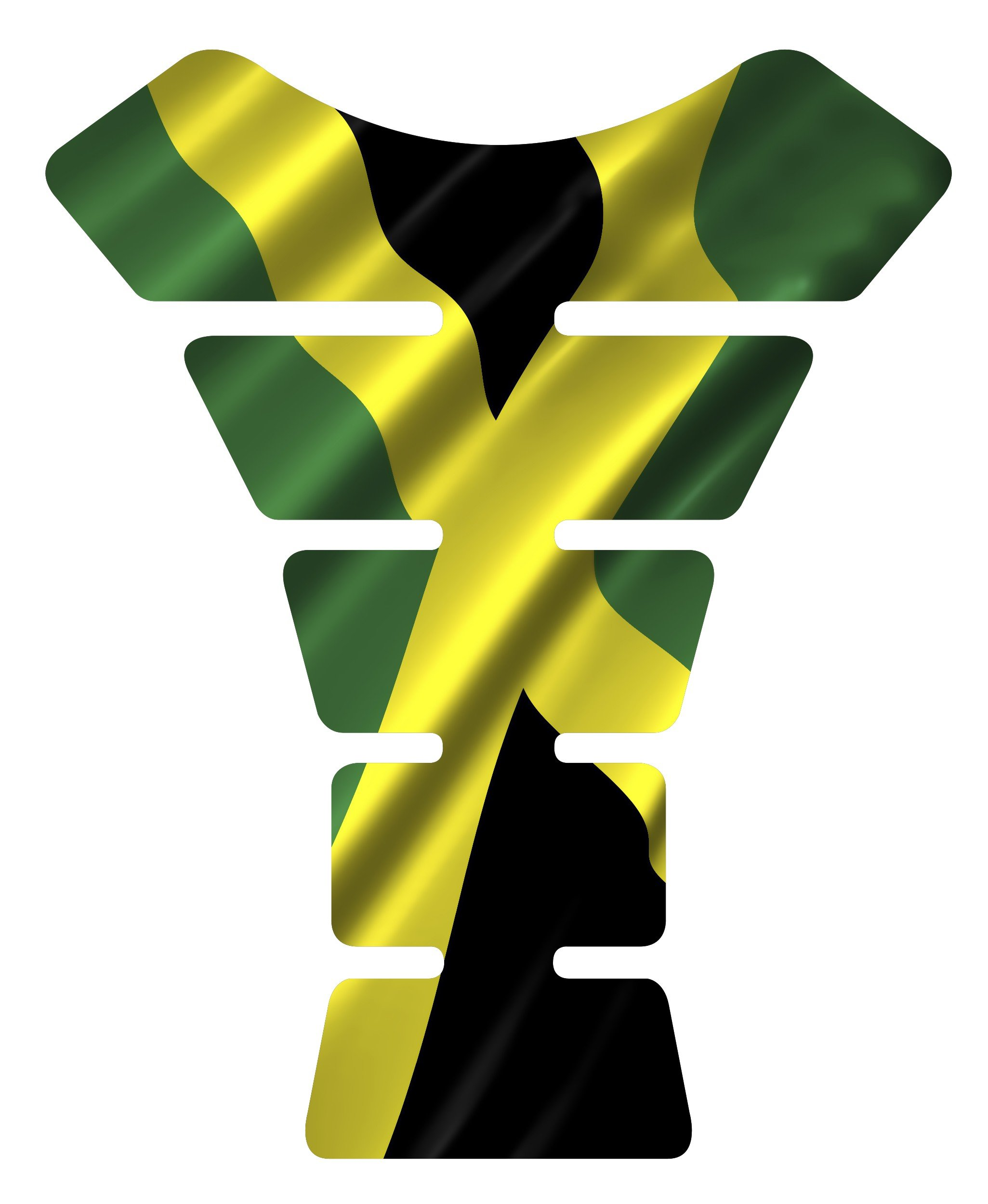Motorcycle Jamaican waving jamaica flag sportbike gel tank pad protector tankpad guard sticker