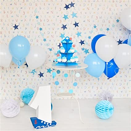 CSFOTO 4x4ft Background For 1st Birthday Party Decor Photography Backdrop Celebrate One Year Old Bash