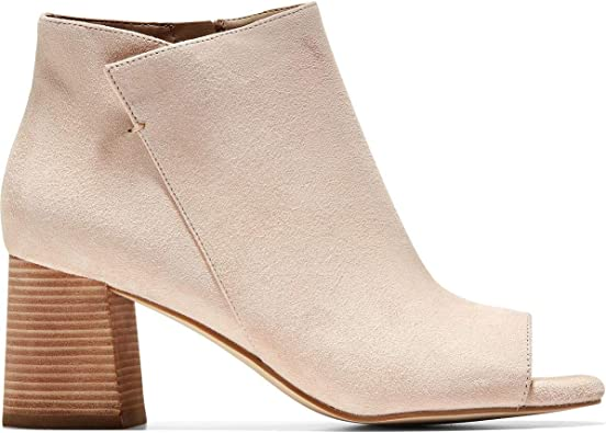 suede peep toe ankle boots