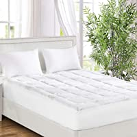 Dreamz Bamboo Pillowtop Mattress Topper Protector Soft Cover Underlay Queen Queen Queen