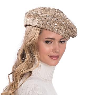 Eric Javits Luxury Fashion Designer Women s Headwear Hat - Glitter - Gold 52513198c69