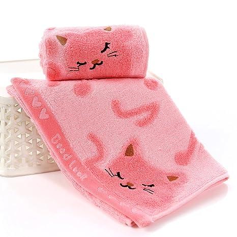 No retorcido de fibra de bambú Música Baby Cat Wash Spa Toallas toalla de baño facial
